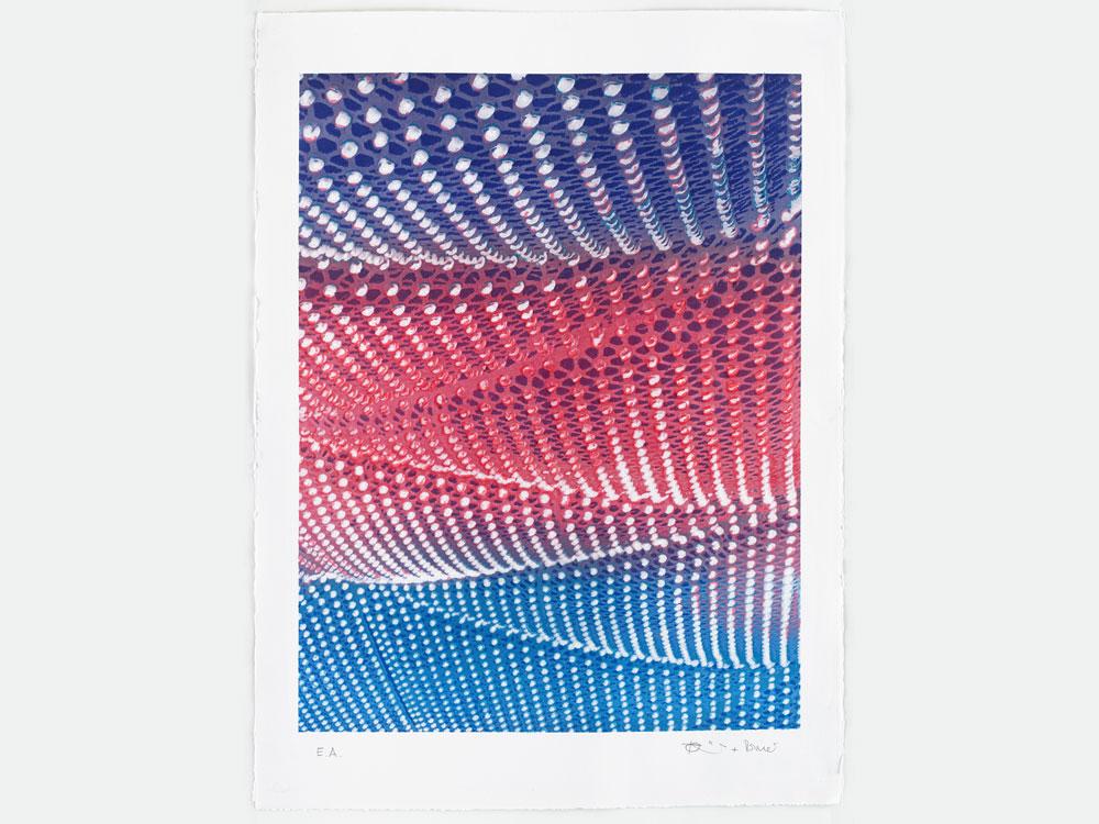 "Römer + Römer ""Electric Sky"", 2018, 4-farbige Lithografie auf Büttenpapier, 56 x 76 cm, Auflage: 30 Exemplare (+ 6 E.A.)"